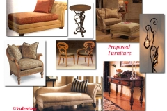 Proposed Traditional Living Furniture