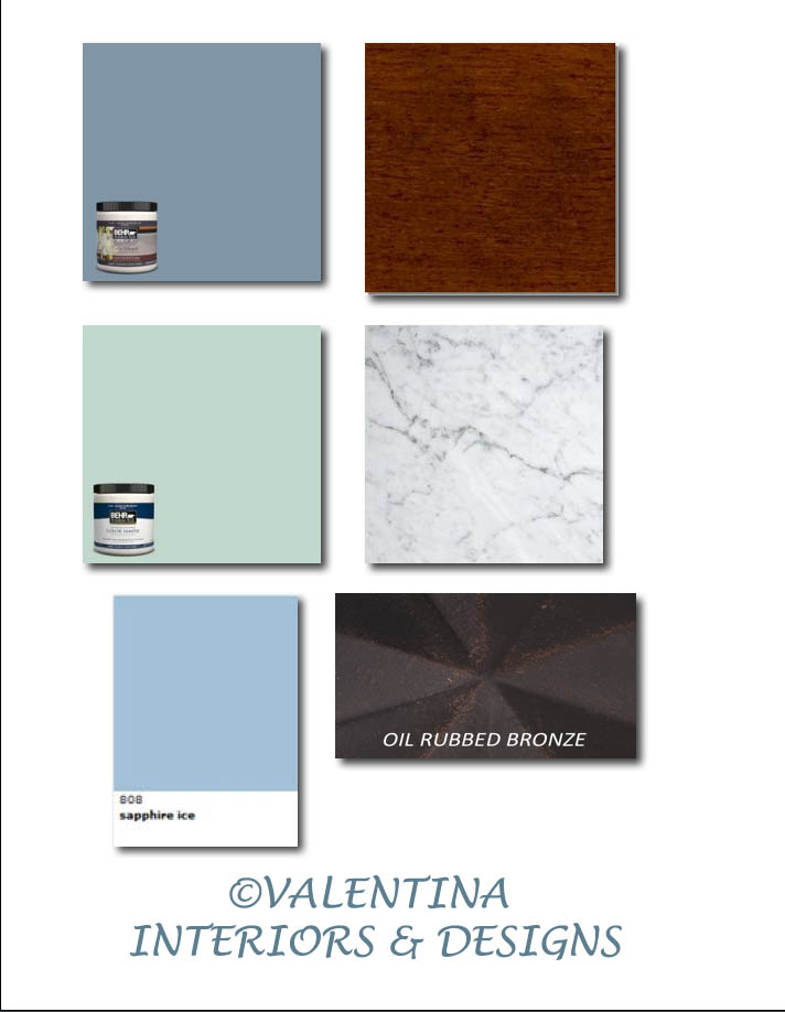 Powder Room Coastal Color Palette
