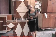 Designer Valentina checking fabrication