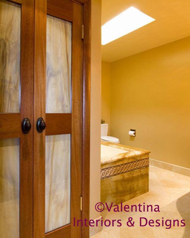 Her Bathroom - Mahogany Towel Closet - AFTER