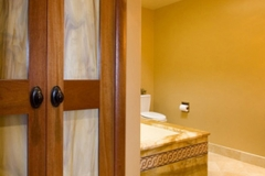 Her Bathroom - Mahogany Towel Closet - AFTER