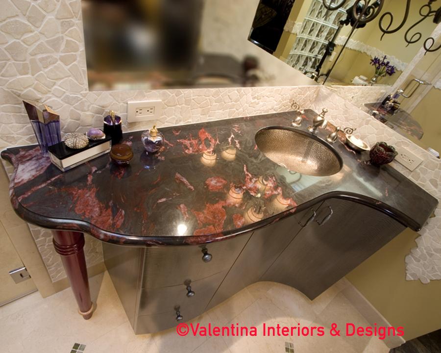 His Bathroom Vanity - Top View - AFTER