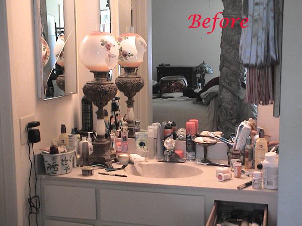 Hi Bathroom Vanity - BEFORE