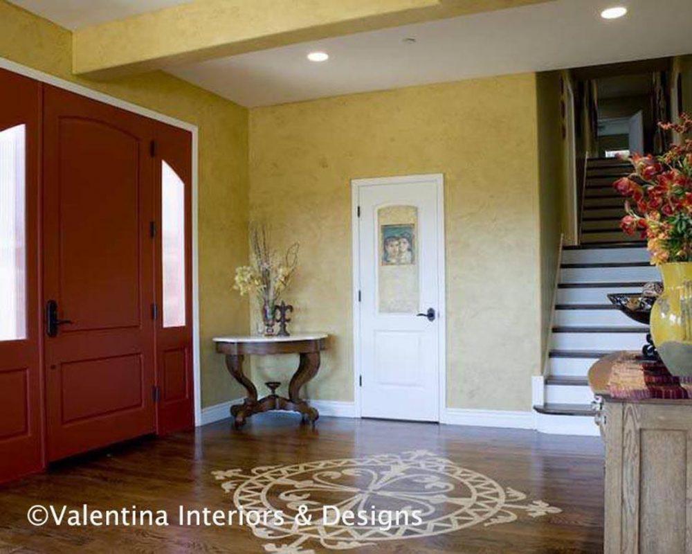 Foyer - Stencilled Hardwood Floor - AFTER
