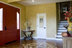 Foyer - Stencilled Hardwood Floor - AFTER