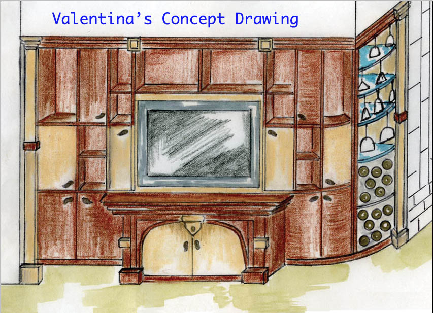 Media Unit Future Wall – Concept Drawing