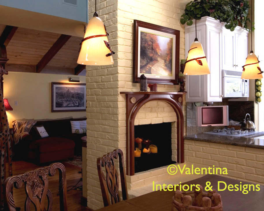 Custom-made Fireplace in Dining – AFTER