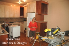 Designer Valentina Checking Work in Progress