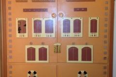 Mural on Closet Doors - AFTER