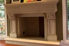 Living Room Stone Fireplace - AFTER