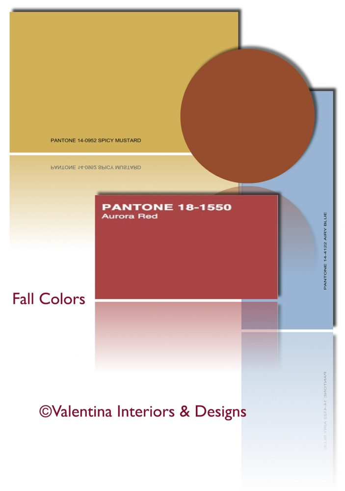 Fall Colors Variation: Mustard, Aurora Red, Airy Blue