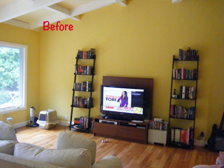 Family room - Media wall - BEFORE