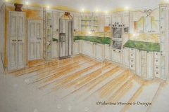 Full View Kitchen - Concept Drawing