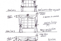 Burlingame - Concept Drawings for Window Treatment
